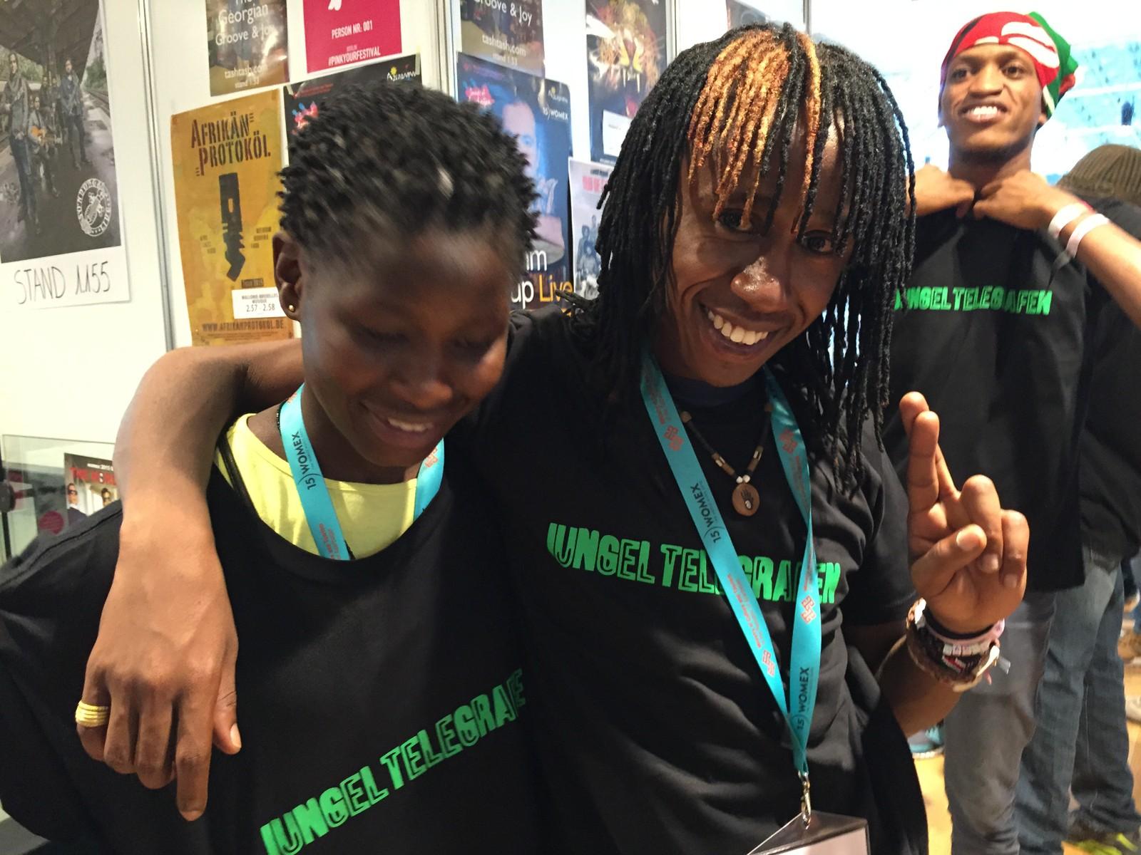 Sarabi fra slummen East Lands i Nairobi. Spilte live på Jungeltelegrafen under Womex 2015 i Budapest.