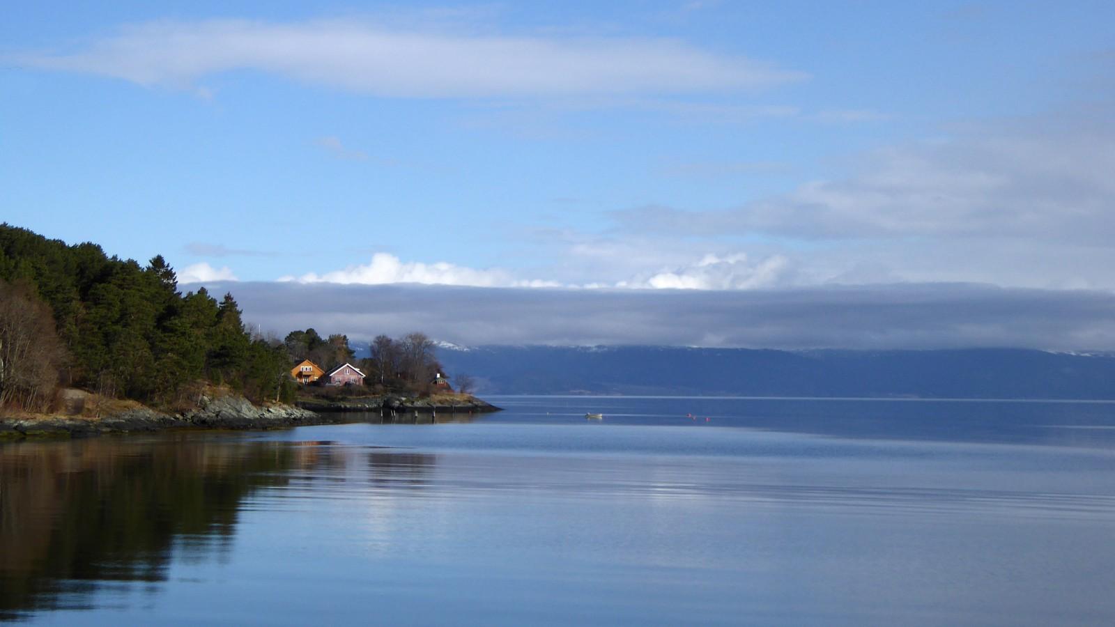 Speilblank Trondheimsfjord