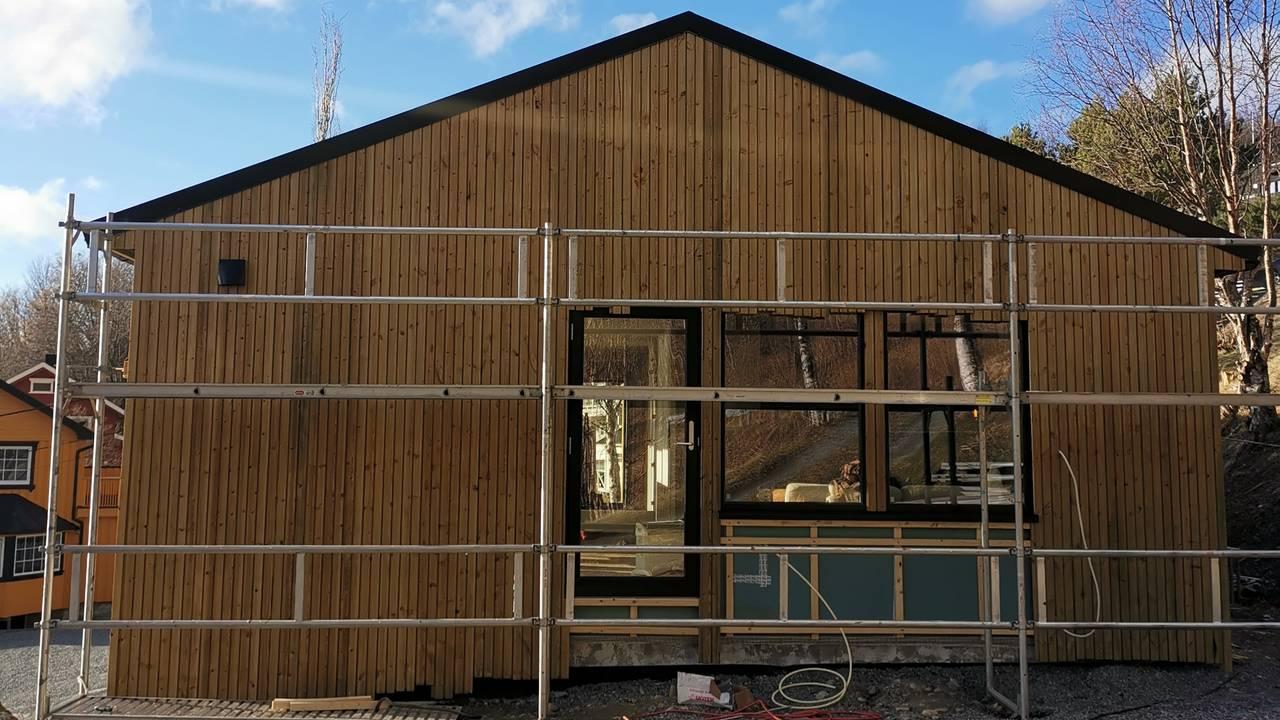 hus under renovasjon