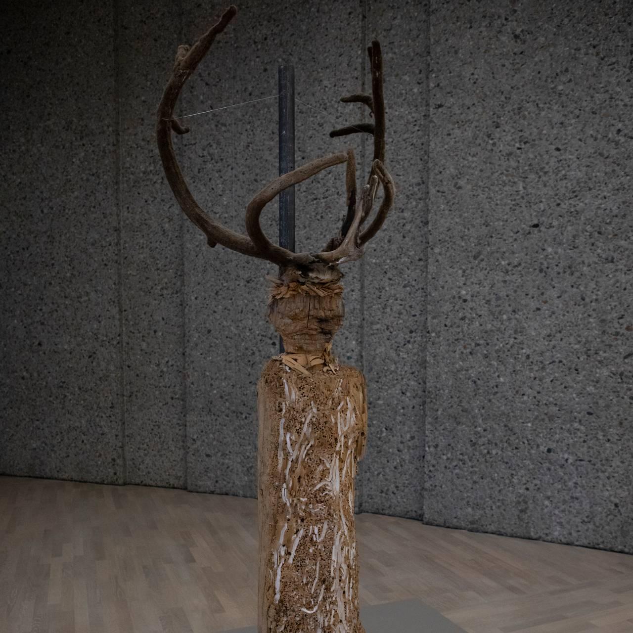 Reinhorn på Áillohaš-utstilling ved Henie Onstad-museet