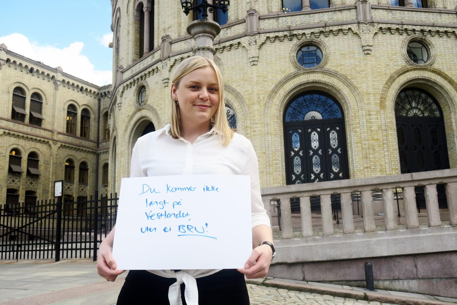 TINA BRU (H): «Du kommer ikke langt på Vestlandet uten ei Bru».