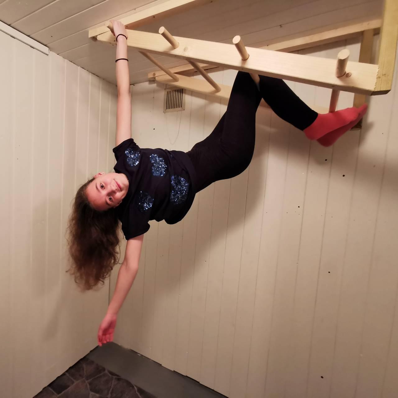 TRENING: For at Madeleine skal holde seg i form, må hun trene hver dag.