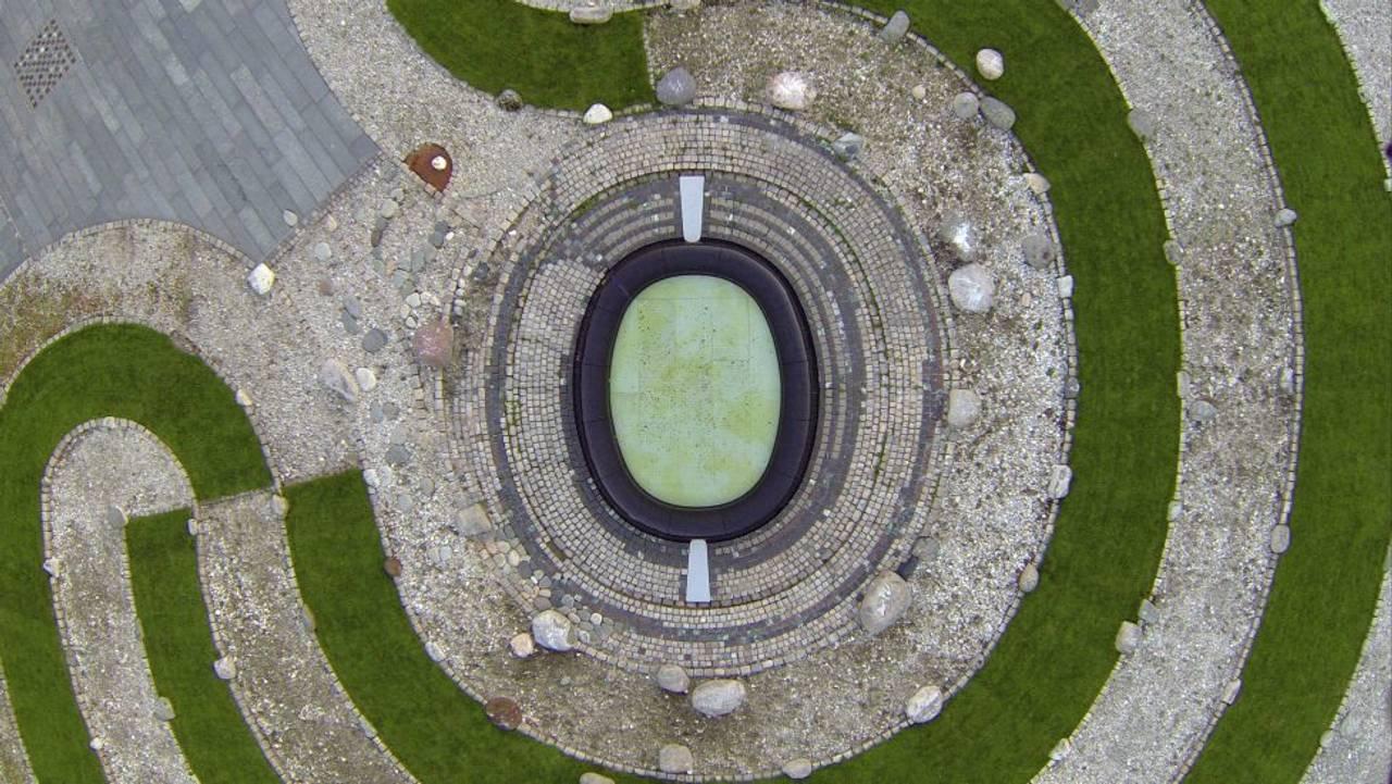 Labyrinten av Guttorm Guttormsgård sett ovenfra