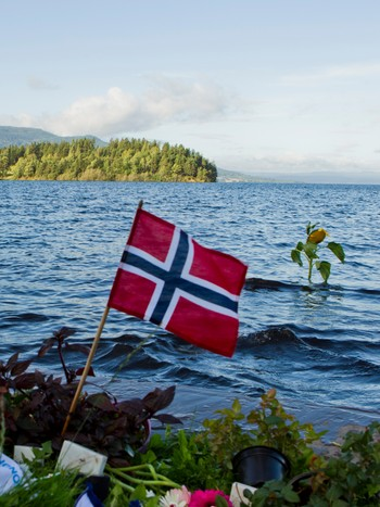 flagg ved utøya