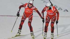 Nå · V-cup skiskyting, stafett kvinner