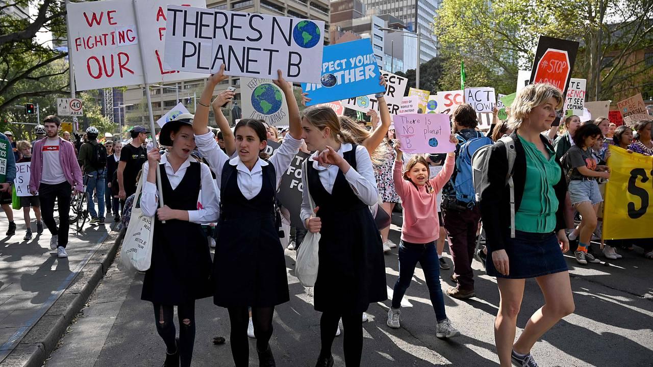 Klimademonstrasjon i Sydney 20. september 2019