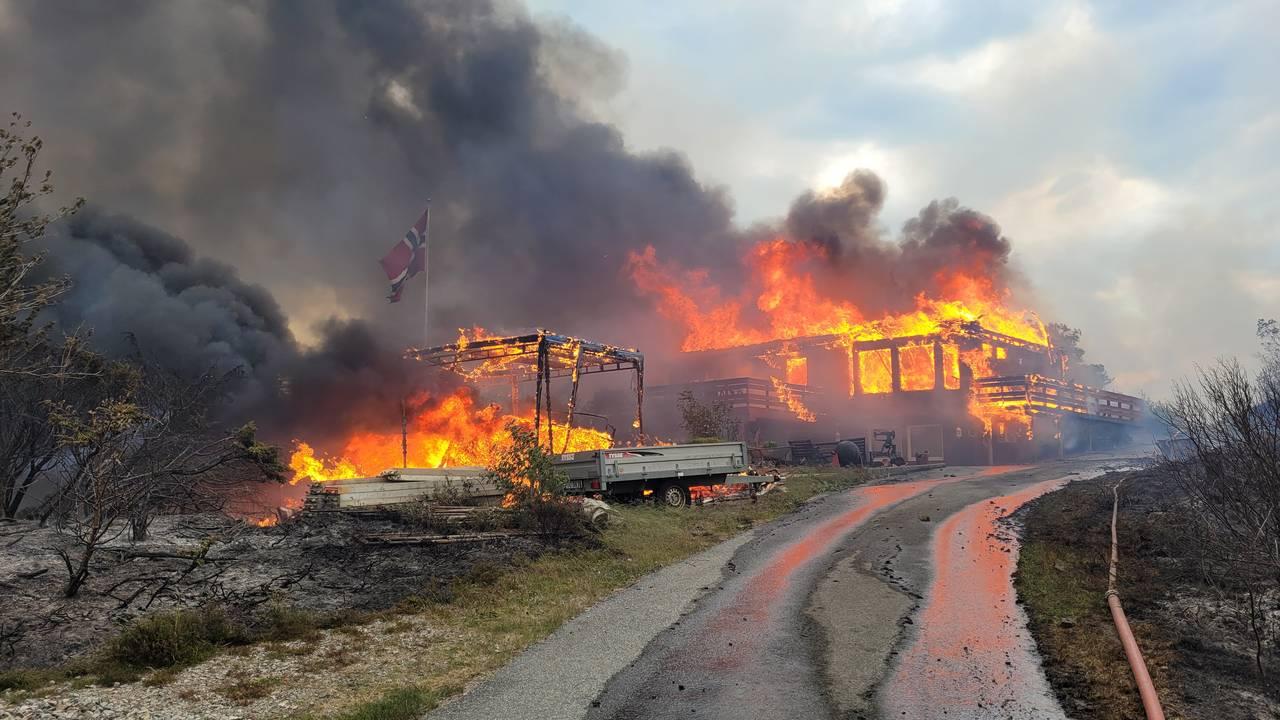 Huset som brann ned på Kårtveit
