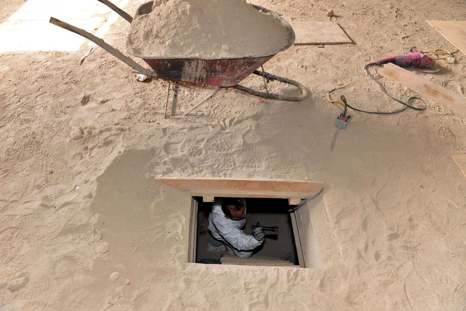 Tunnelen endte i et halvferdig hus i Almoloya de Juarez.