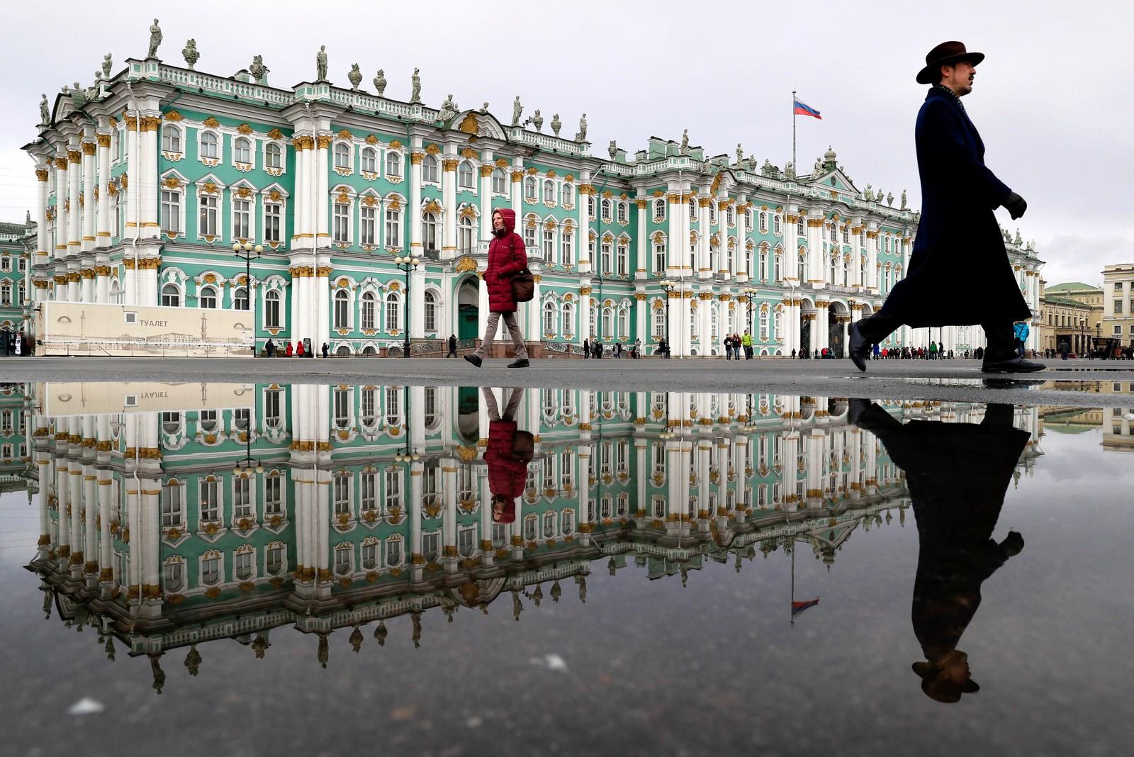 Vinterpalasset i St. Petersburg i Russland.