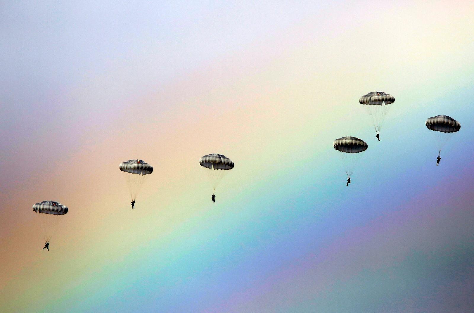 Russiske fallskjermjegere.