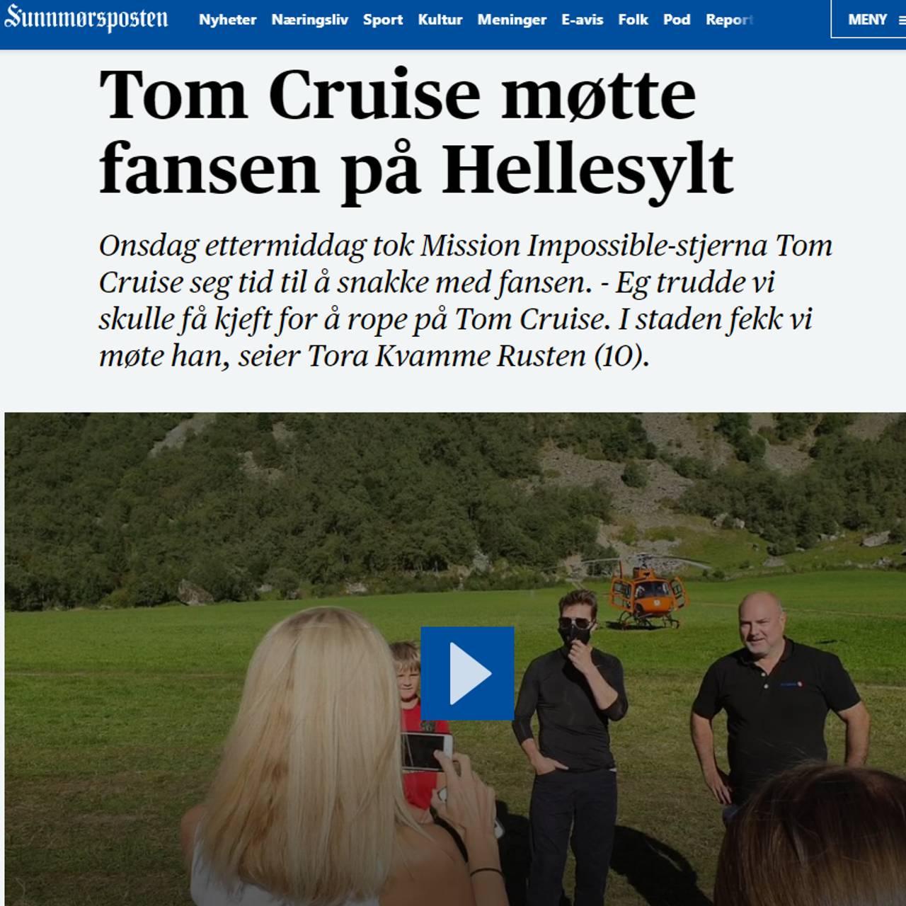 smp Tom Cruise møtte fansen