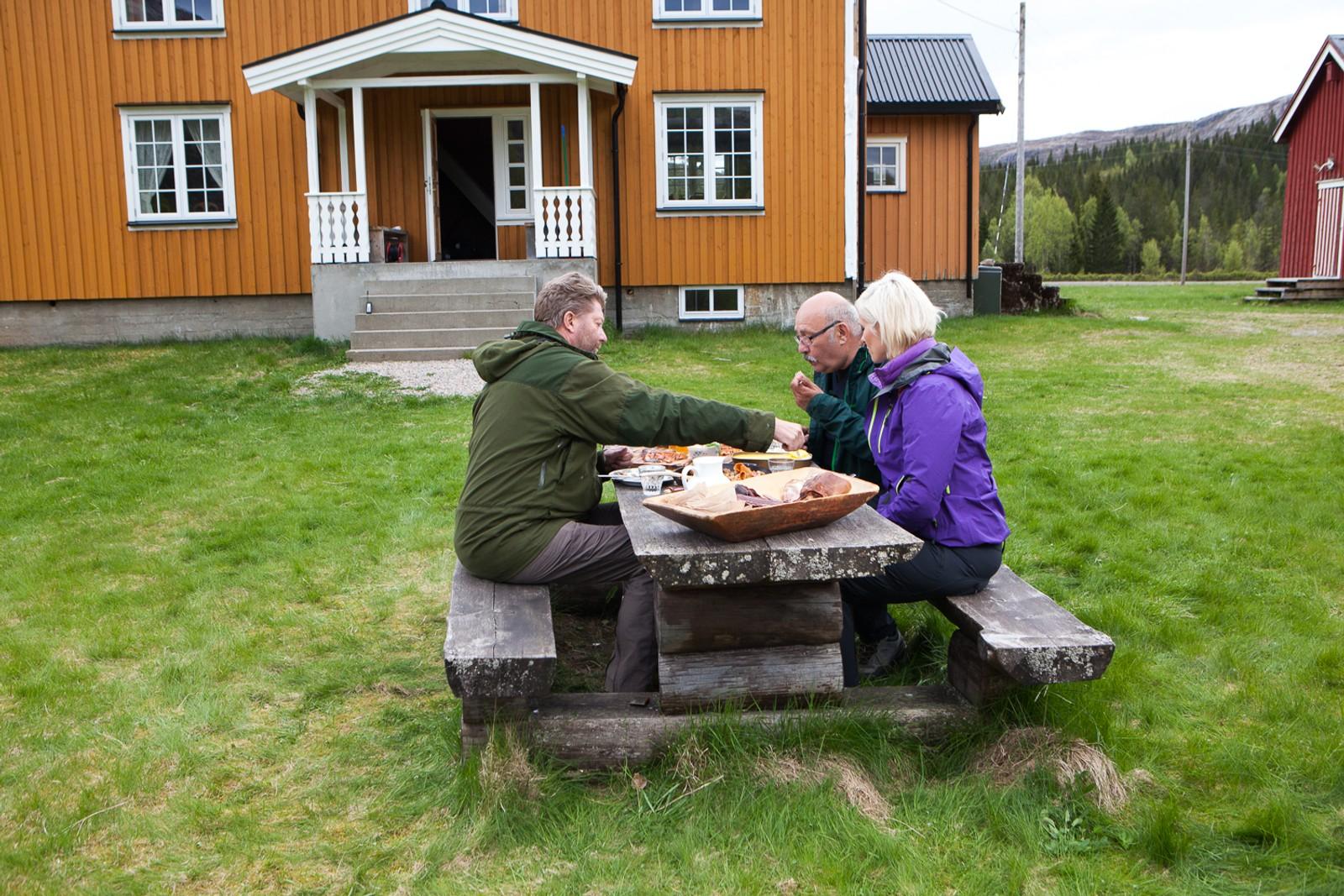 Målet for denne turen var Saksen gård i Fosnes kommune.