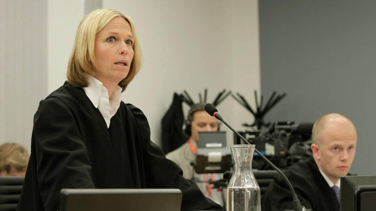 Aktor Inga Bejer Engh innledet aktoratets prosedyre