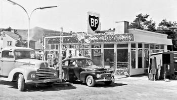 Bileiernes bensinstasjon på Vinstra 1954