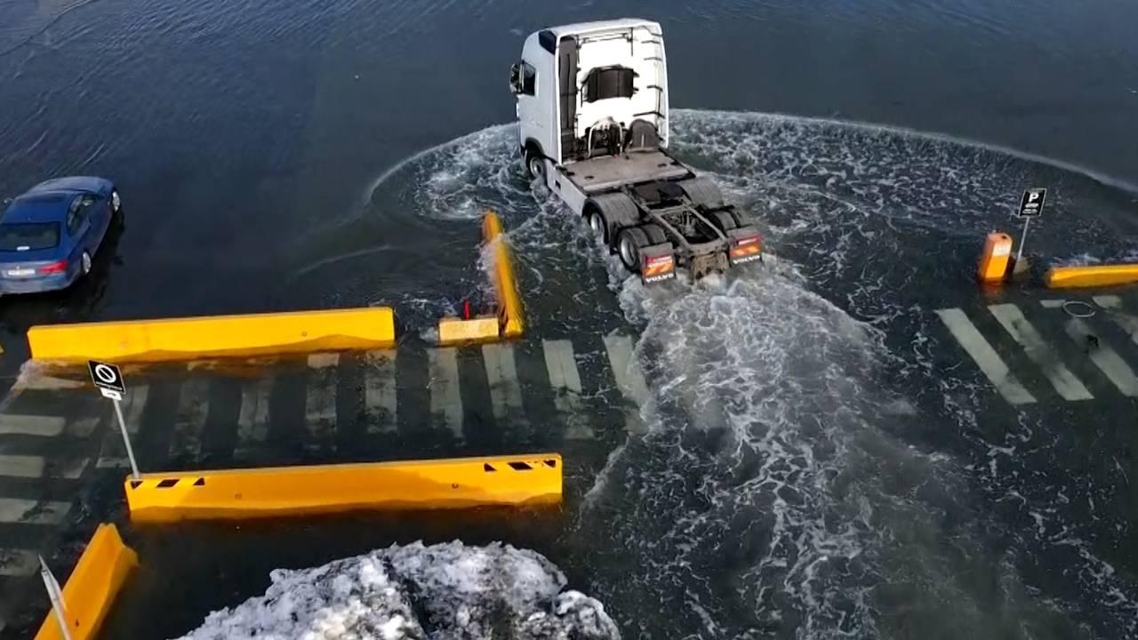 HAR STENGT HAVNA: Trondheim havn er stengt på grunn av flomtoppen som er ventet klokken 13.09.