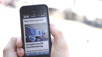 NRK.no på mobil