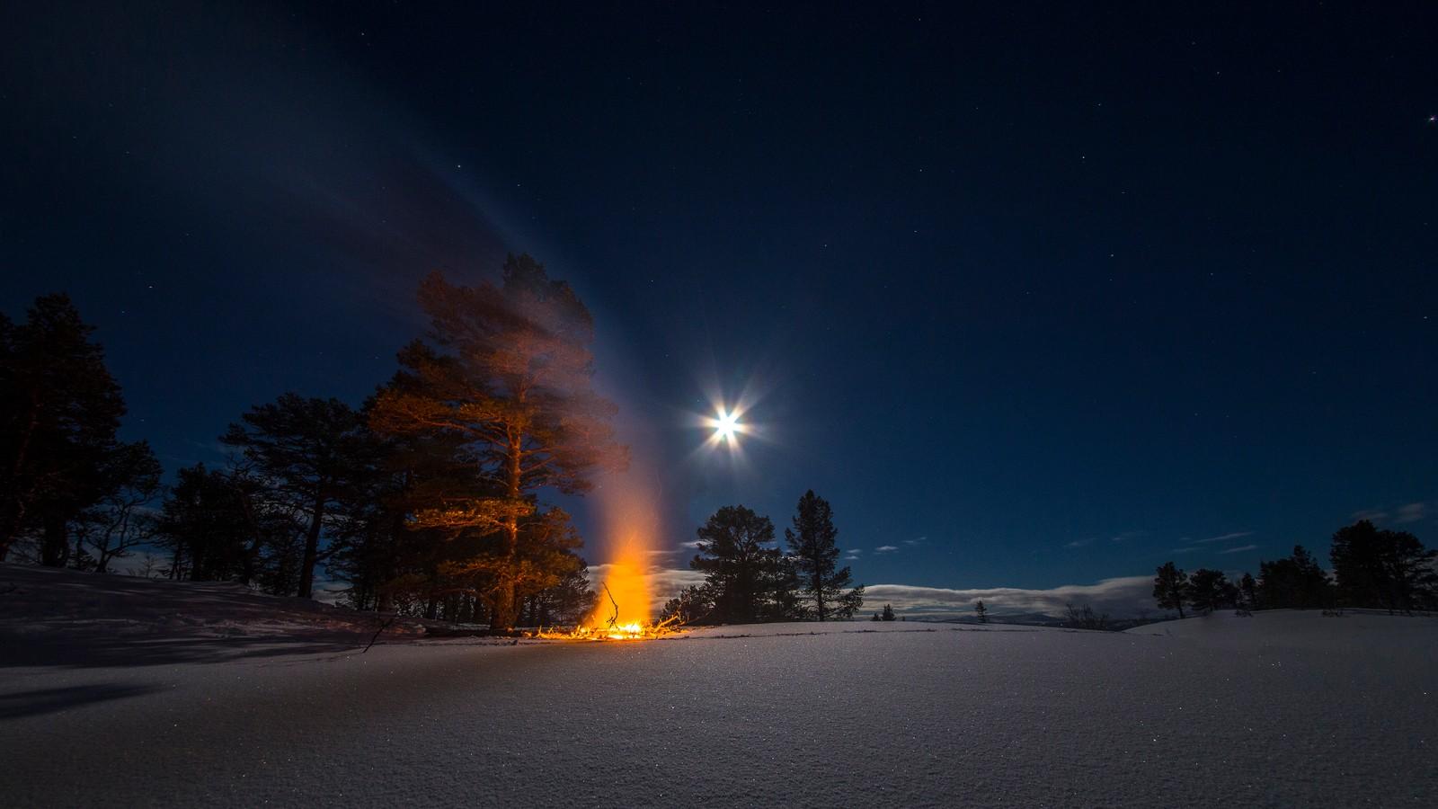 Fullmånenatt i Meldal