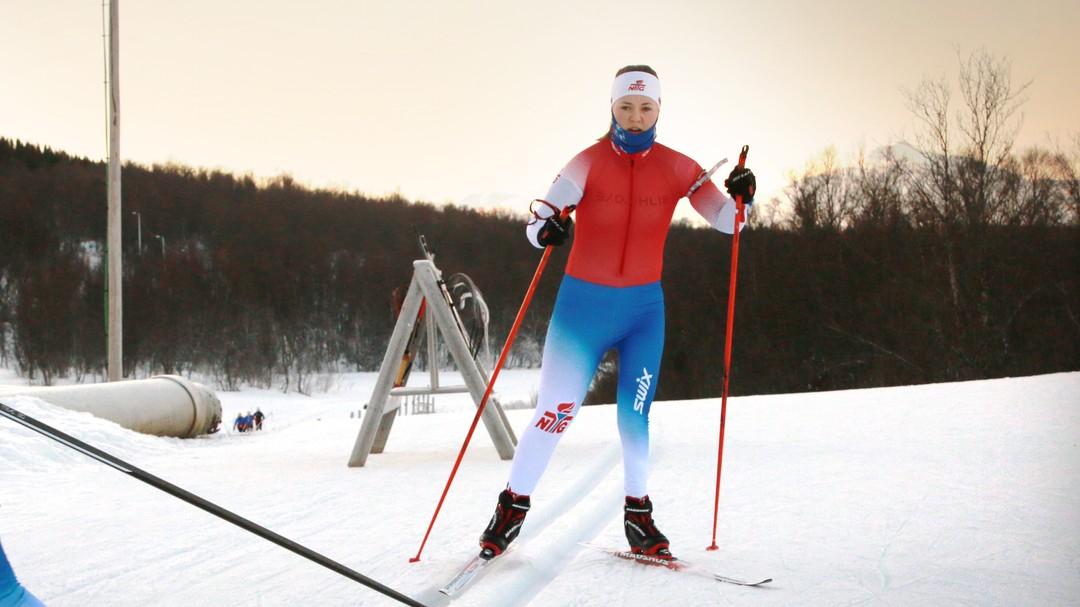 TYDELIG: Når Vilde Nilsen er kledd i konkurransedrakt er det enkelt å se forskjellen på det høre og det venstre beinet hennes.