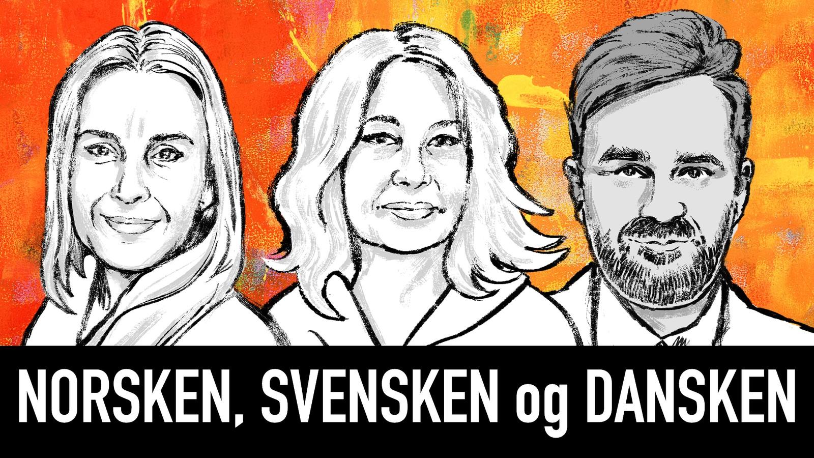 """Logo des Podcasts """"Norsken, svensken og dansken"""""""