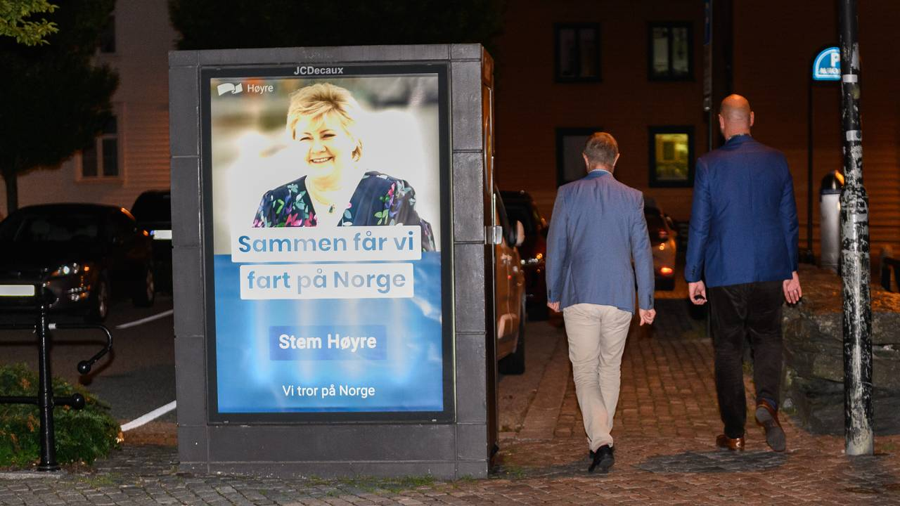 Bent Høie går hjem fra valgvake