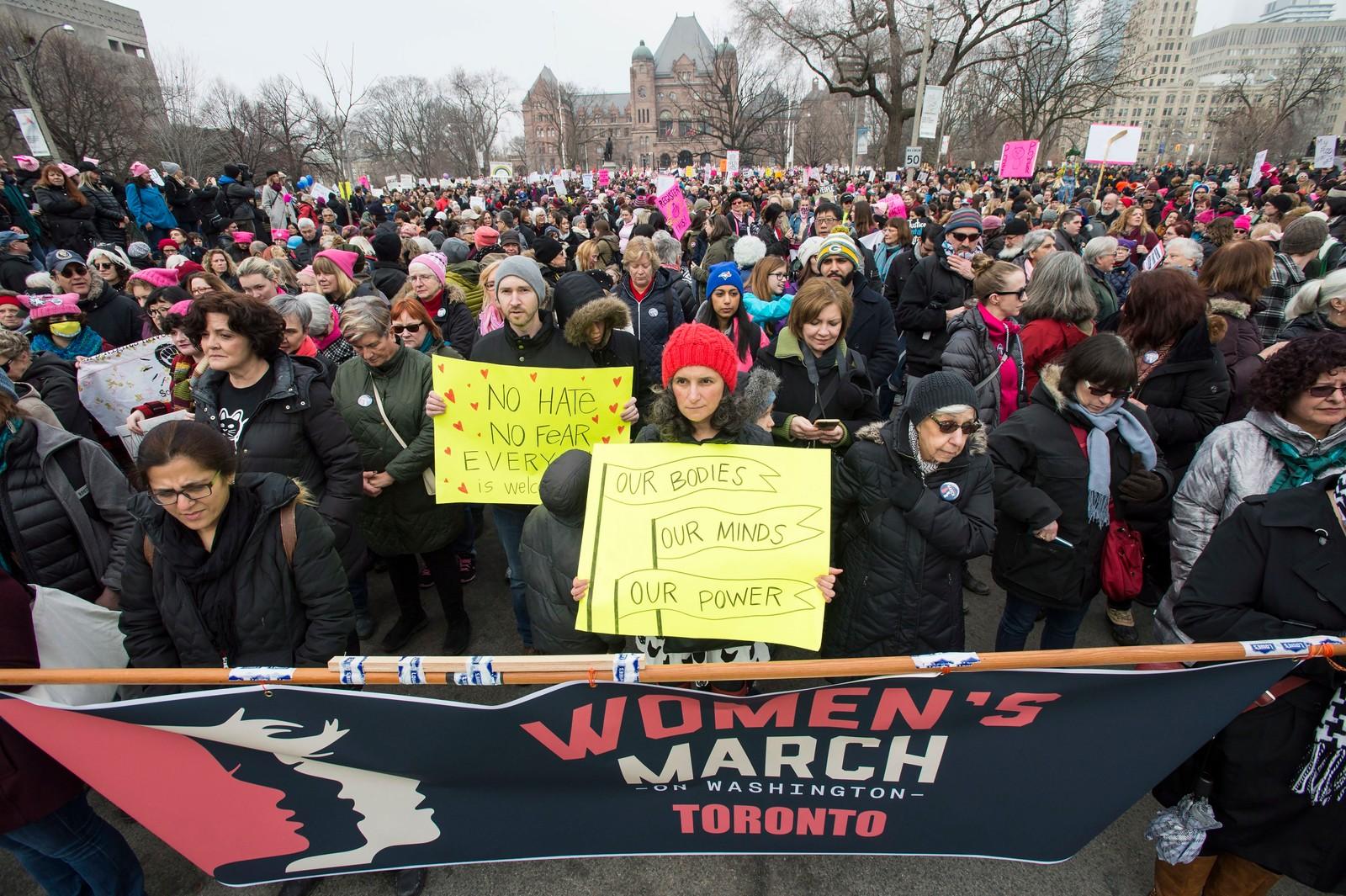 Også i Canada, her i Toronto, var det demonstrasjoner lørdag.
