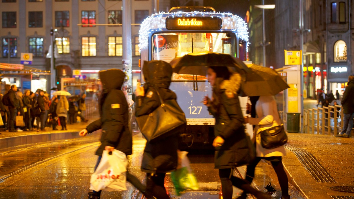 Våt jul i Oslo - Foto: Junge, Heiko/NTB scanpix