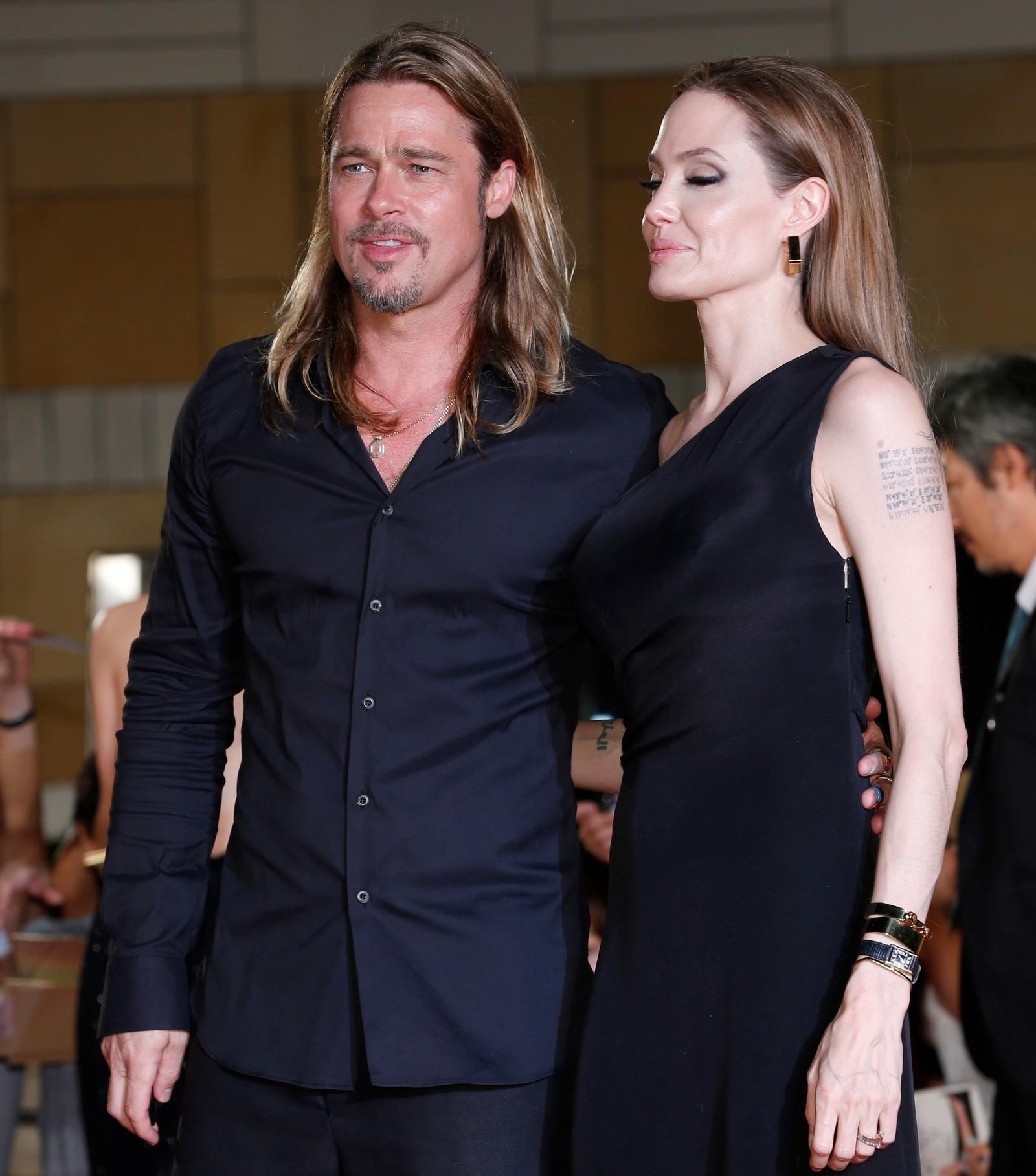 Slik så det da de besøkte Japan 29 juli. 2013, i forbindelse med premieren på Pitt sin film «World War Z».