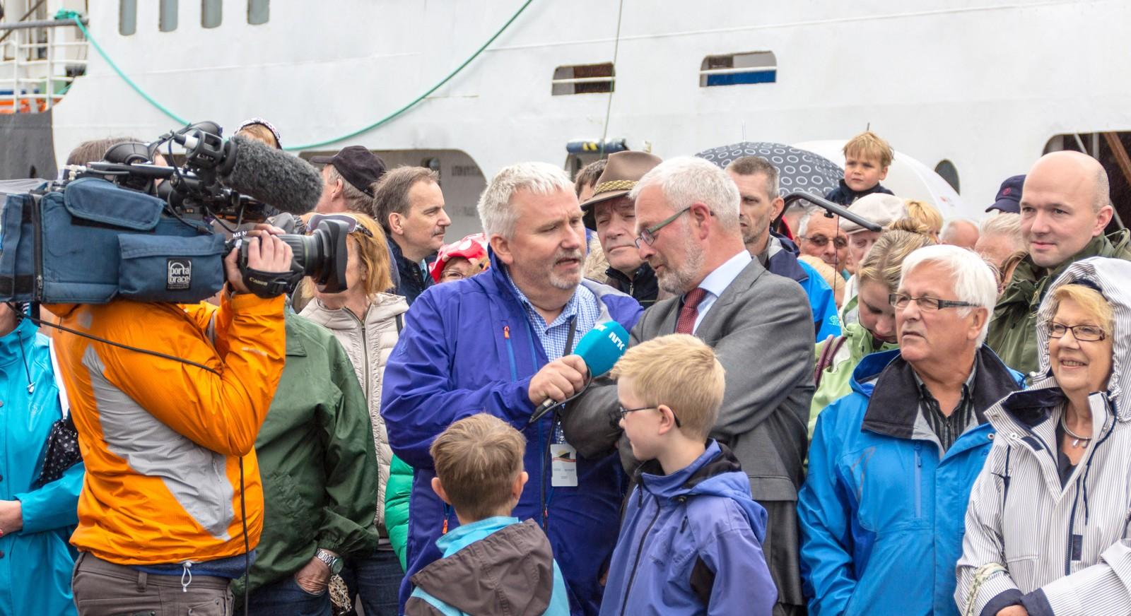 Tidligere varaordfører Knut Fagerbakke i Trondheim blir intervjuet av Tom Erik Sørensen