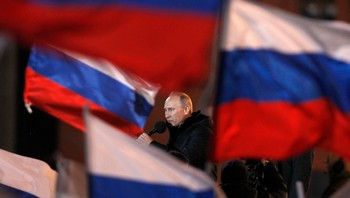 Putin held sigerstalen til tilhengjarane sine