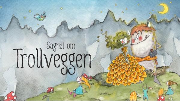 Dette er sagnet om Trollveggen, hvor trollene ble så oppslukt av festen at de glemte å følge med på når solen steg på himmelen. Norsk kortfilm.