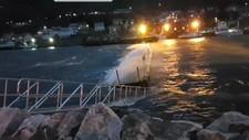 VINDEN HERJET MED BÅTENE: I Gryllefjord på Senja skal flere båter ha fått skader under stormen «Ylva». Båteier Odd Inge Furu melder at han måtte flytte båten sin da uteliggerne på båtplassen kollapset i uværet.
