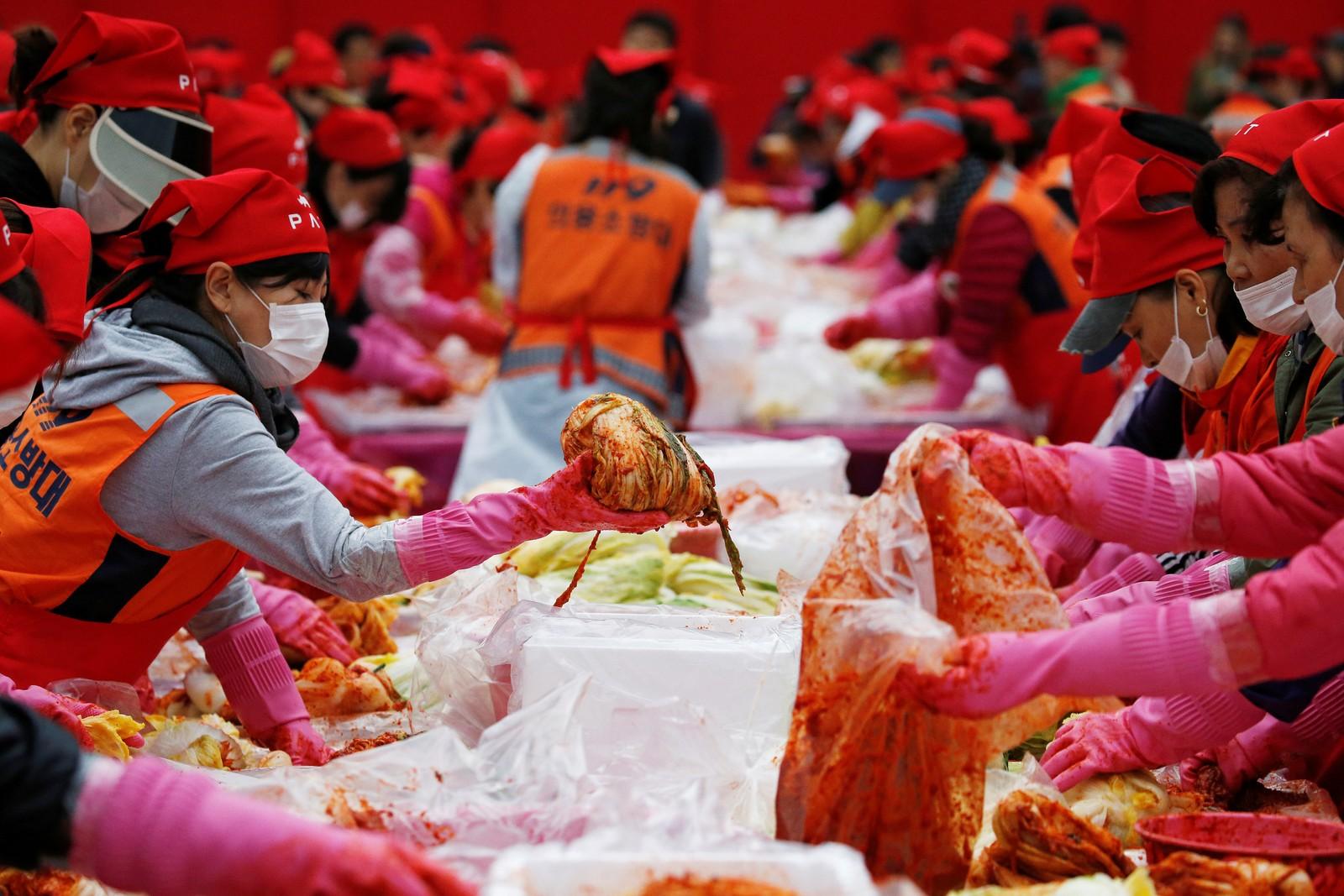 Lekkert. Kimchifestival i Seoul i Sør-Korea.
