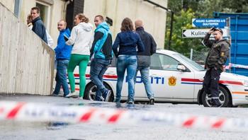 Etterforskere fra politiet i Oppegård i Akershus
