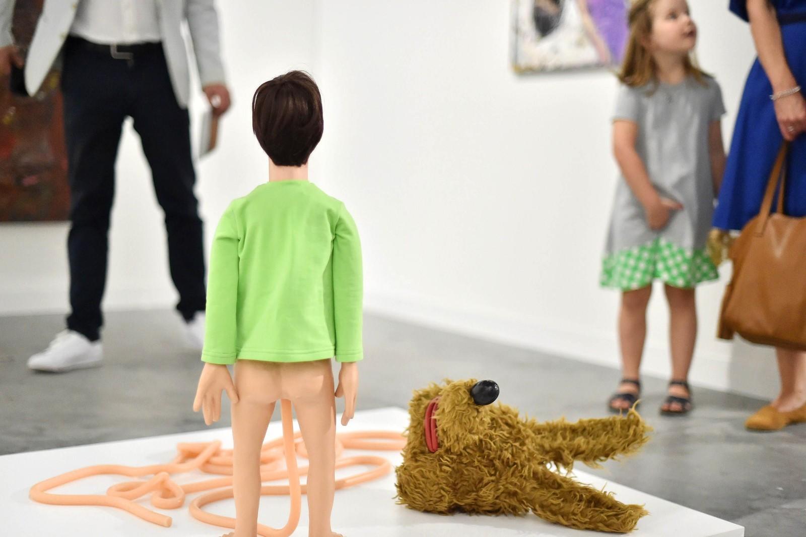 Art Basel, en internasjonal messe for samtidskunst. Dette bildet er fra Miami i USA.