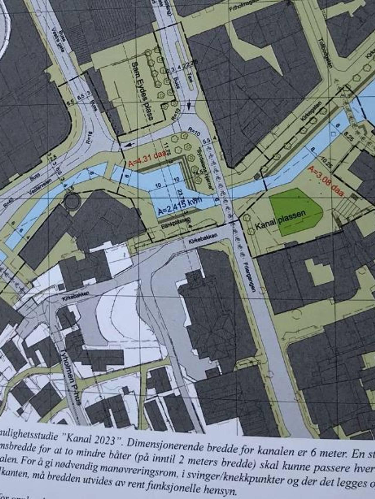 Illustrasjonsplan for Kanalselskapet og prosjektet
