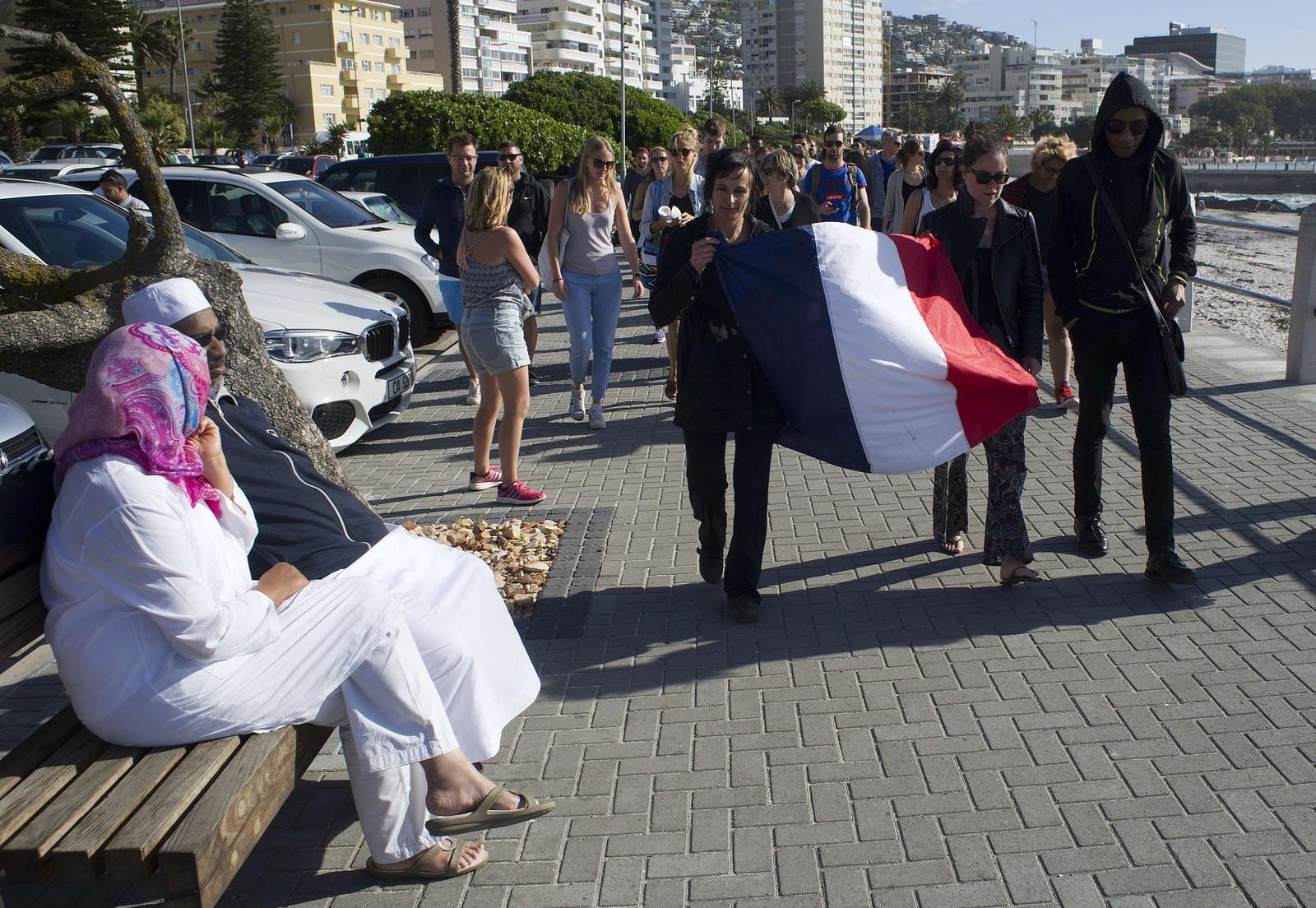 Over 500 mennesker deltok i en demonstrajonsmarsj mot terror i Sør-Afrika.