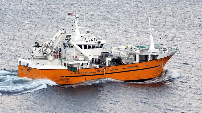 Ringnotbåten Sjøglans, eigd av Heggøy AS i Askvoll. Foto: Sølve Slagnes.