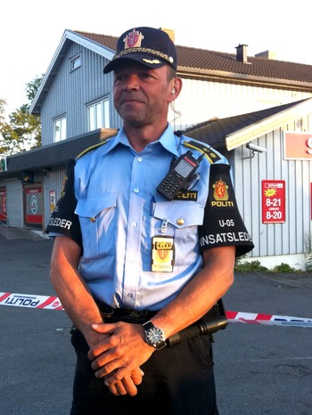 Kjell Bjerklund, innsatsleder i politiet