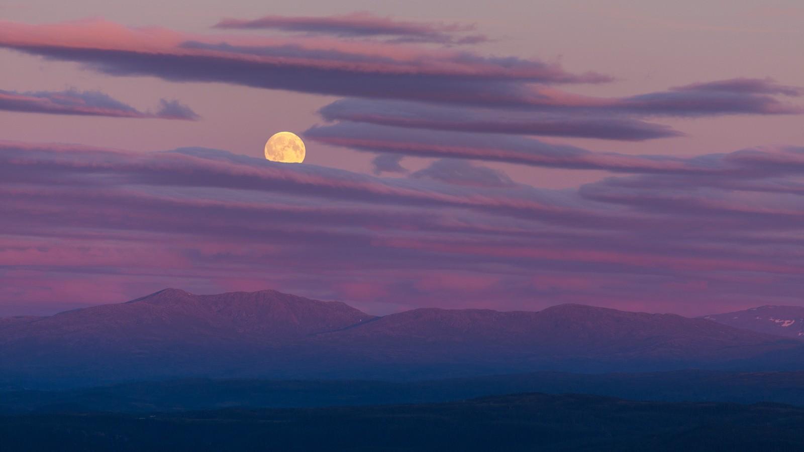Månestemning på Forbordsfjellet
