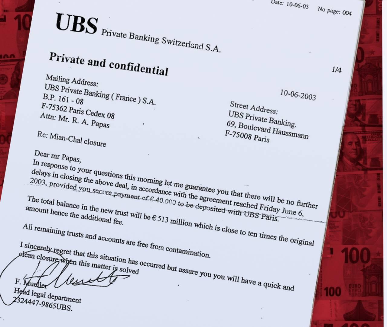 Falske papirer fra UBS