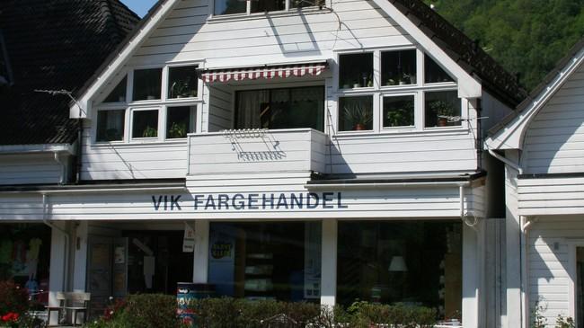 Vik Fargehandel. Foto: Ottar Starheim, NRK.