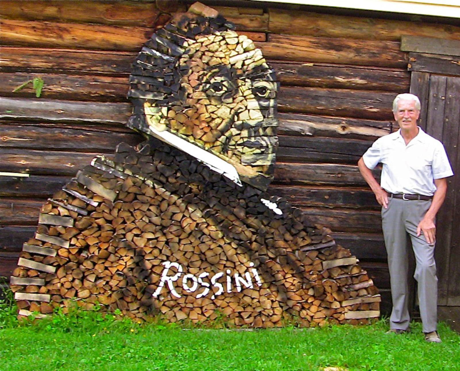 2011: Det første vedmaleriet til Ole Kristian Kjelling var av den italienske komponist Gioacchino Rossini.