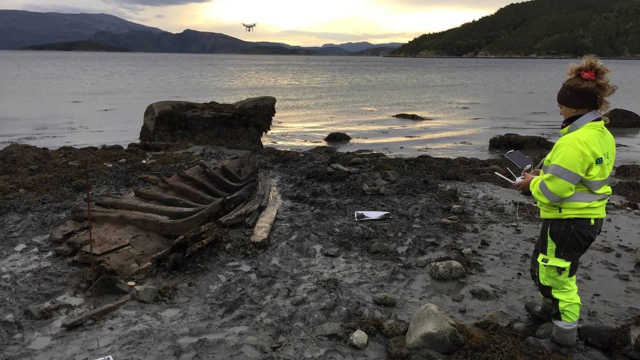 Utgravning av båt i Kattmarka, Namsos