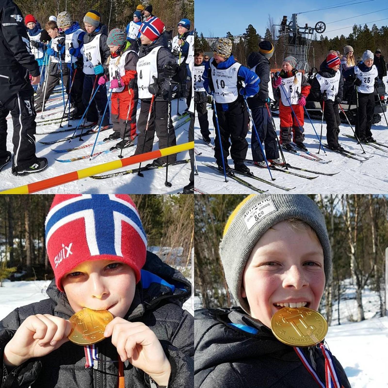 Nokre feira med skiløp for kreftforeininga i Junkerdalen.