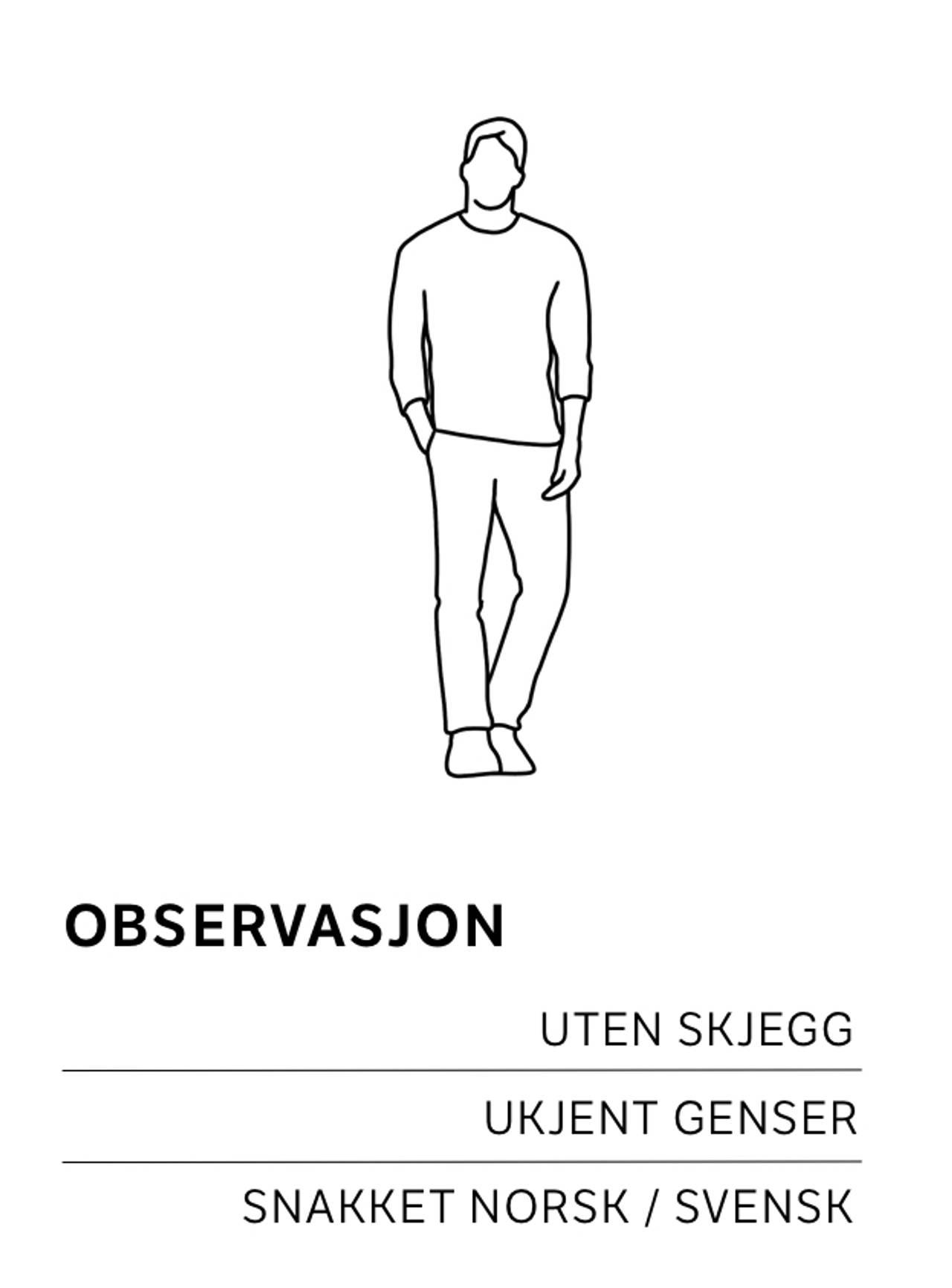 Mann uten genser