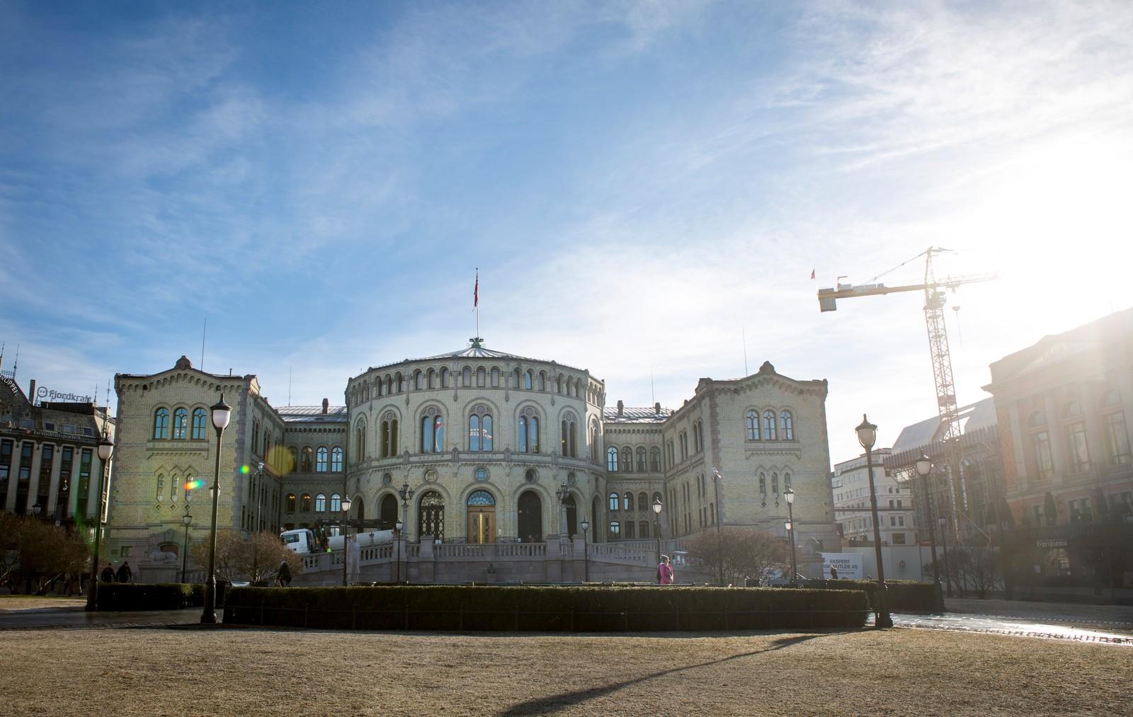 Stortinget i Oslo en torsdag formiddag i februar 2016.  Foto: Torstein Bøe / NTB scanpix