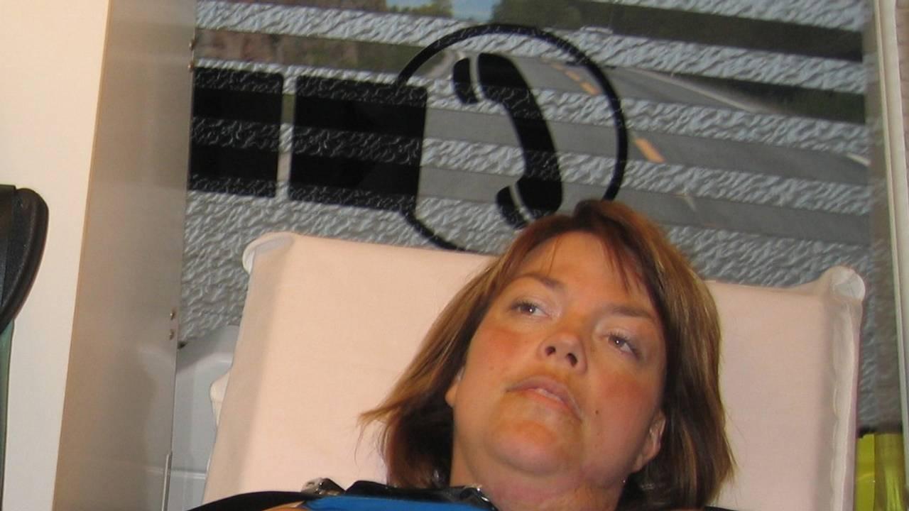 Monica i ambulansen