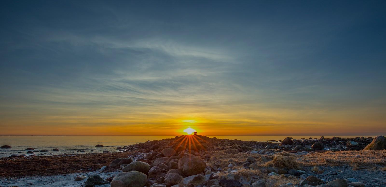 Solnedgang fra Skeie i Klepp