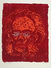Ludvig Eikaas sitt portrett av Henrik Ibsen.