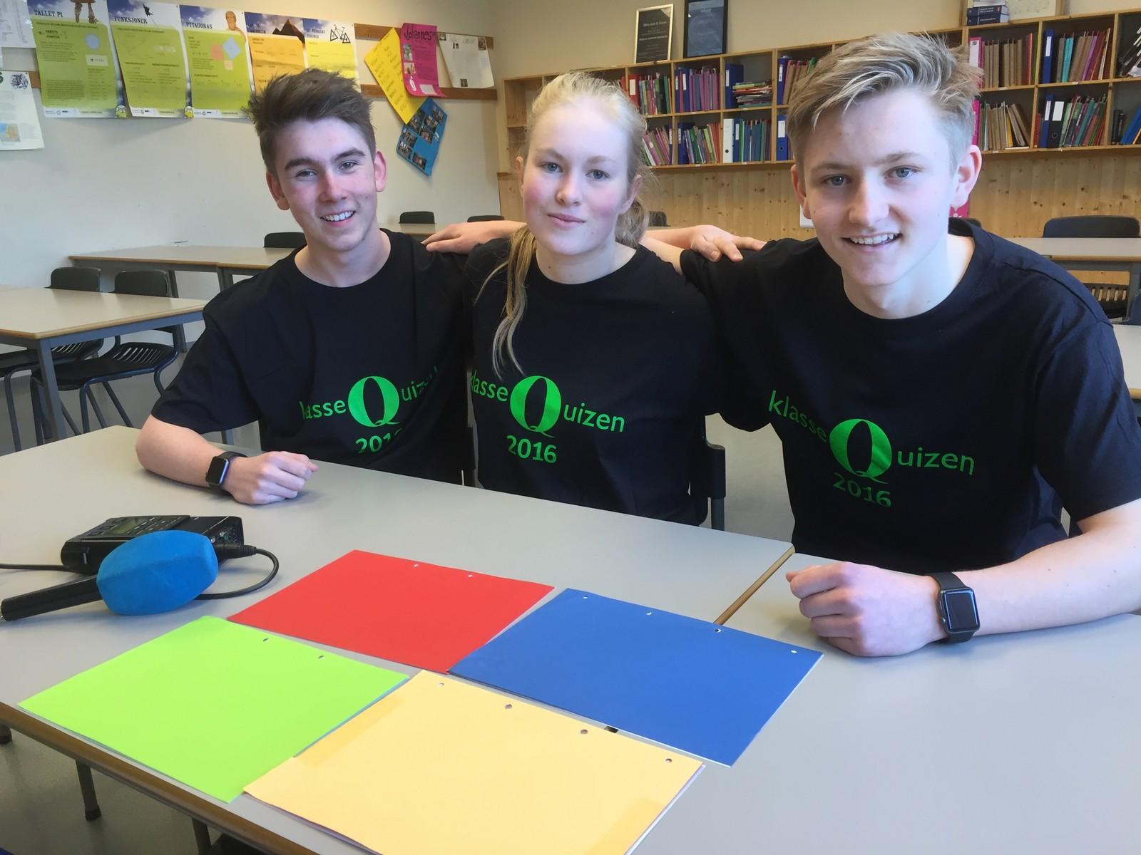Morten Eide, Maria Lill Garvik og Elias Rying ved Slidre skule fikk ni poeng